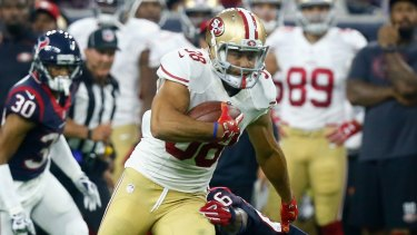 Second chance? Jarryd Hayne in action against the Houston Texans in August.