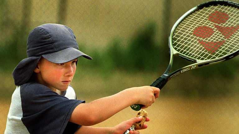 A single day camp playing tennis can cost more than $100 a child a day.