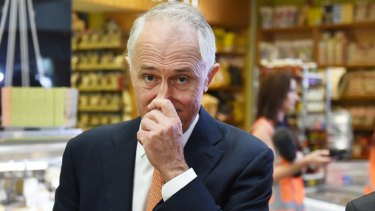 Prime Minister Malcolm Turnbull knew something was on the nose at the Sydney Fish Markets on Wednesday after his backflip on an emissions intensity scheme.