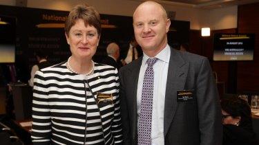 CBA chairman Catherine Livingstone with CEO Ian Narev.