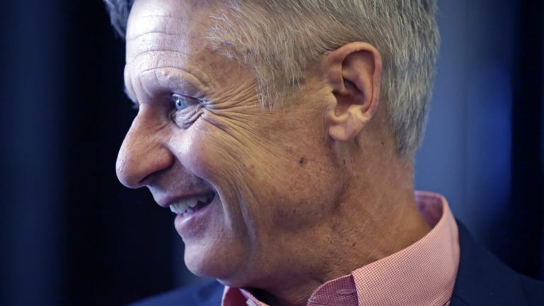 Libertarian presidential candidate former New Mexico Governor Gary Johnson.
