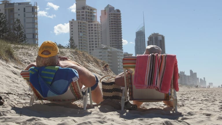 Relaxing before the storm - Surfer's Paradise beach