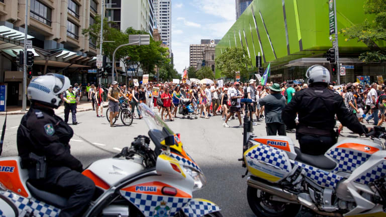 Queensland Police said the march was peaceful and there were no arrests or issues.
