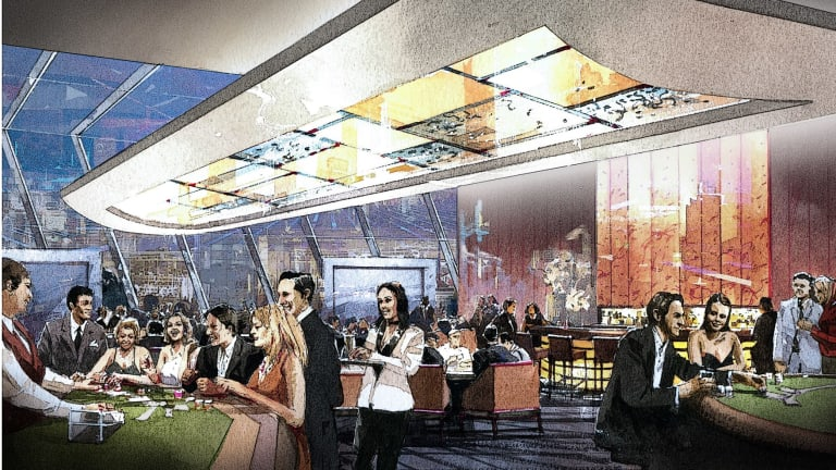 An artist's impression of a gaming area in the redeveloped Canberra casino.