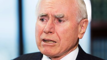 """John Howard said it was """"one of the most ridiculous propositions"""" that Australia had to choose between having a strong relationship with the US or China."""
