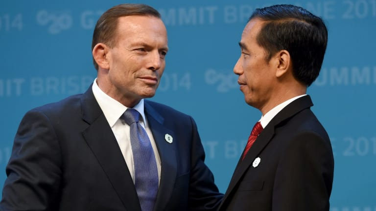The delay in executions has been linked to everything from phone taps to the unpopularity of PM Tony Abbott, pictured here with Joko Widodo.