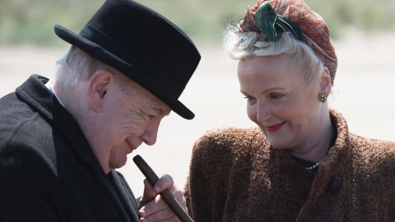 Brian Cox as Winston Churchill and Miranda Richardson as wife Clementine in <i>Churchill</i>.