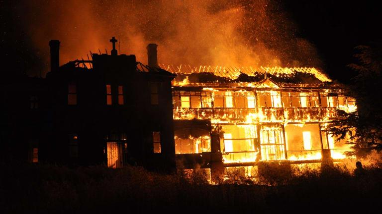 Fire destroys St John's orphanage in Goulburn.