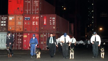 Security guards at Port Botany Patrick terminal 1998