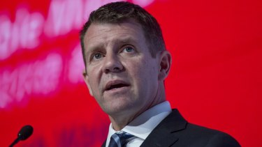 Support: NSW Premier Mike Baird.
