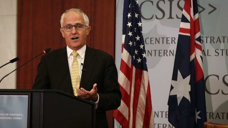 Prime Minister Malcolm Turnbull was insightful and eloquent in Washington, as well as being breathtakingly hypocritical.