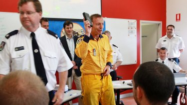 """""""All the boys are here,"""" Prime Minister Tony Abbott said as he greeted the men by name."""