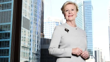 Professor Gillian Triggs, President of the Human Rights Commission, in her Sydney office.