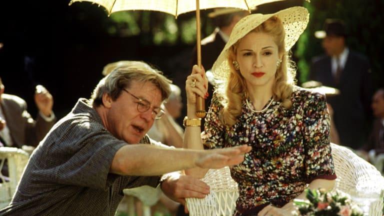 Alan Parker directing Madonna on the set of the film version of Evita.