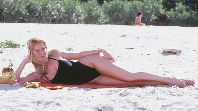 Holly X modelling in Miami in the early 1980s. She remembers Bon Scott as ''a gentle person''. From Bon: The Last Highway