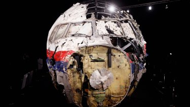 The ripped, wrecked remains of flight MH17.