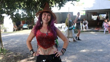 Karla Baker danced the hokey pokey naked at sunrise at last year's Woodford Folk Festival.
