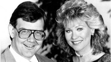 Kerri-Anne with former Good Morning Australia co-host Gordon Elliott.