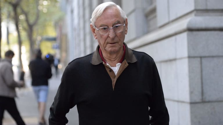 Robert Penny leaves the Supreme Court in April 2015 after being granted bail.