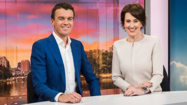 hosts Virginia Trioli and Michael Rowland.