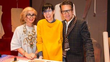 From left, Kate Durham, Robyn Healyand Robert Buckingham.