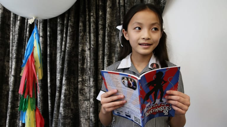 Emma Yap, 9, has designed a carpooling app which lets parents who are verified by schools arrange rides with each other on week days and for weekend activities.