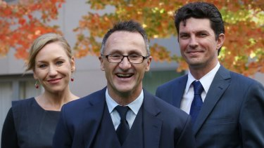 Scott Ludlam (right) and Larissa Waters (left) served as co-deputies to Greens leader Richard Di Natale.