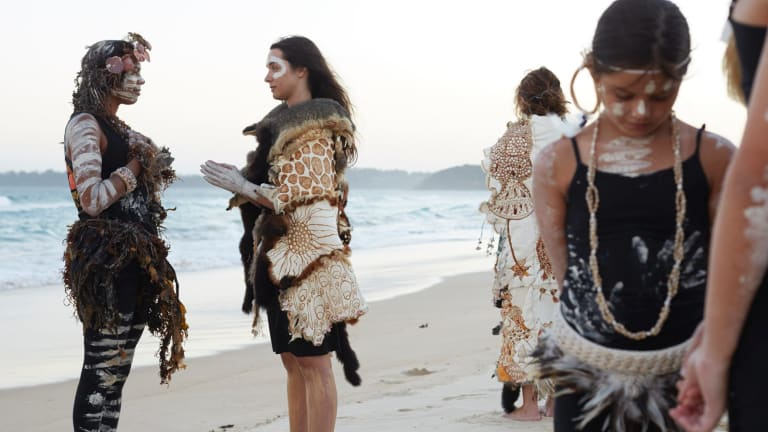 Amanda Jane Reynolds' audio visual piece, Ngawiya Maan, is part of Weave.
