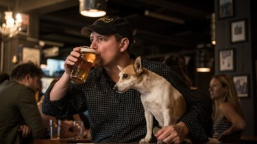 Peter Philip said he designed his Wayward Brewery's tasting room to be dog-friendly from the start.