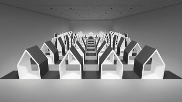 A model for the largest nendo installation at NGV's <i>Escher X nendo</I> exhibition.