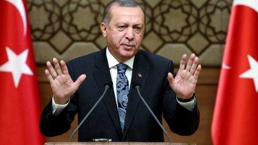 """Germany, you have no relation whatsoever to democracy"": Turkey's President Recep Tayyip Erdogan."