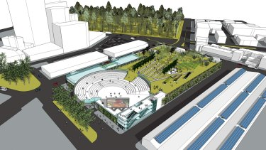 A proposed redesign of the Queen Victoria Market by architect John McNabb.