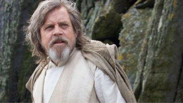 Mark Hamill as Luke Skywalker in The Force Awakens.