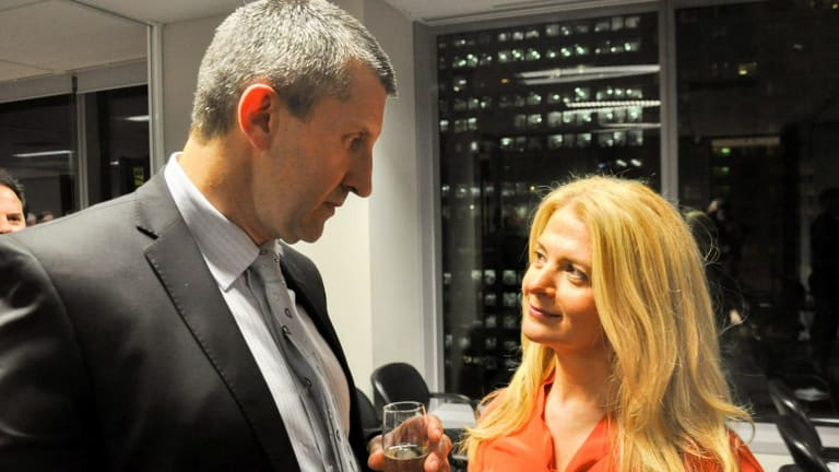 Edward Mandla with Angela Vithoulkas at Sydney Matters function earlier this year.