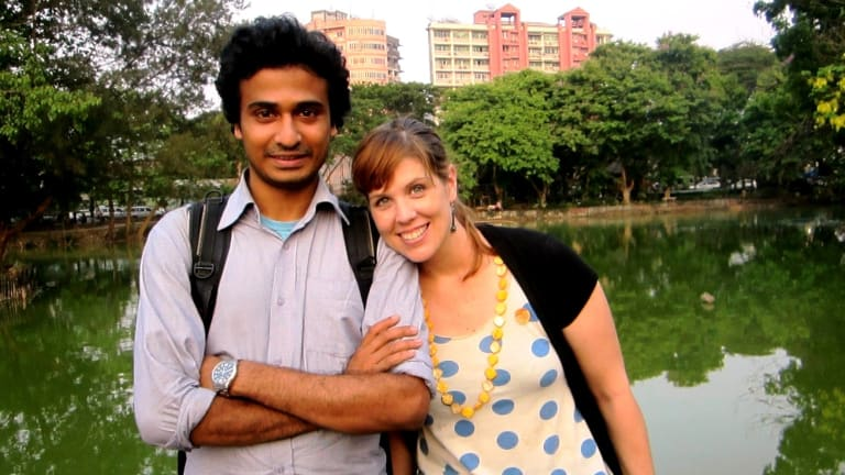 Journalist Jess Mudditt and her husband Sherpa were forced to leave Myanmar.