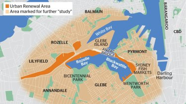 The scope of the Bays Precinct project.