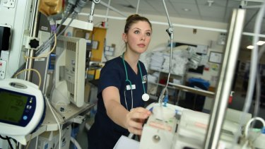 Nurse Emma Young is rostered to work over the Christmas period.