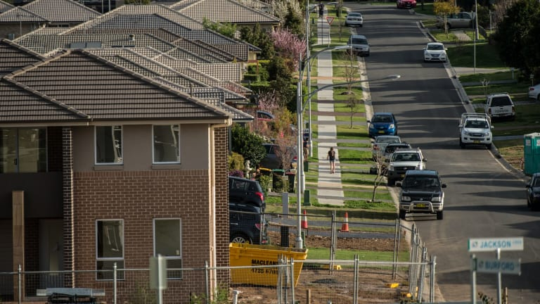 Homes being built in Elderslie, one of the new suburbs surrounding Camden.