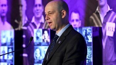 Making progress: NRL boss Todd Greenberg.