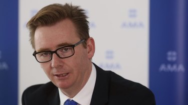 Sick of the government's talks on Ebola: AMA president Brian Owler.
