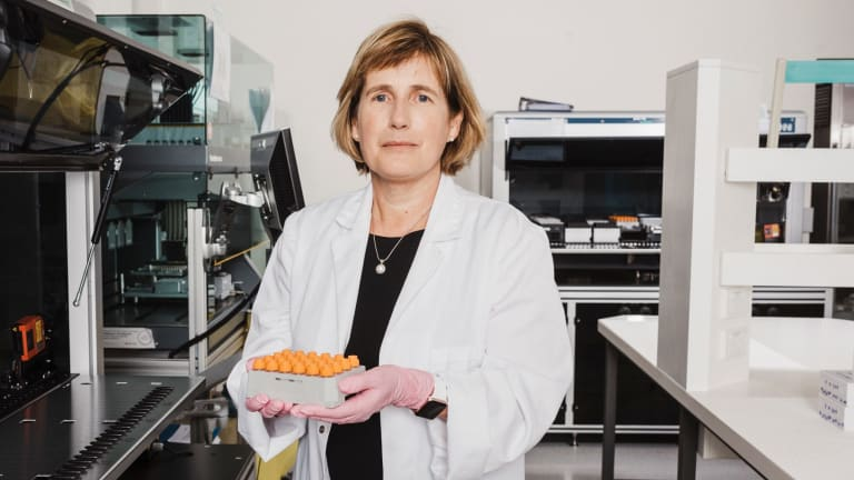 Forensics investigator, Sharon Neville at the NSW Forensic & Analytical Science Service in Lidcombe.