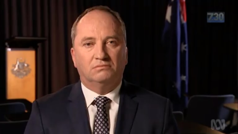 Barnaby Joyce swatted away questions about his affair with a staffer on ABC's 7:30.