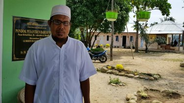 Khairul Ghazali, the founder of Al-Hidayah Islamic School near Medan, Indonesia.