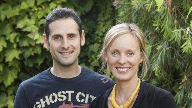 Justin and Rachel Bernhaut, owners of Jack N' Jill.