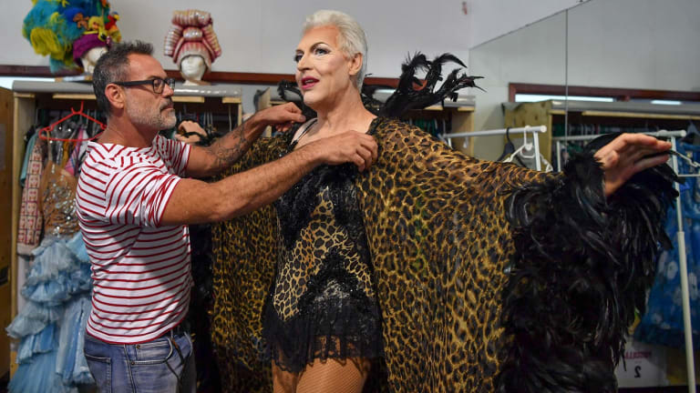 Rehearsals for Priscilla, Queen of the Desert - the musical which returns to the stage a decade after its Australian debut and international tour.