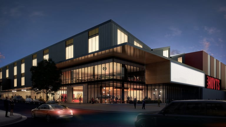 An artist impression of the proposed Gungahlin cinema and entertainment precinct.