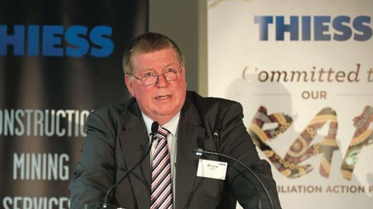 Former Thiess managing director Bruce Munro.