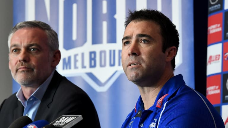 Job only half done: The Kangaroos have re-signed Brad Scott.