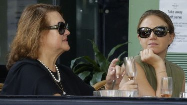 Gina and Ginia Rinehart: Bianca feared material provided to Ginia was likely to be passed on to their mum, Gina.