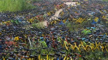 Think the bike problem is bad in Australian cities? Check out this aerial view of bicycles in Shenzhen, China.